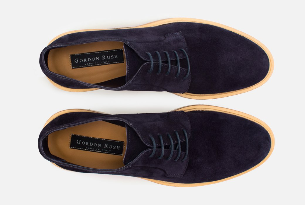 Gordon Rush Fletcher Derby Shoe Navy Suede Top View