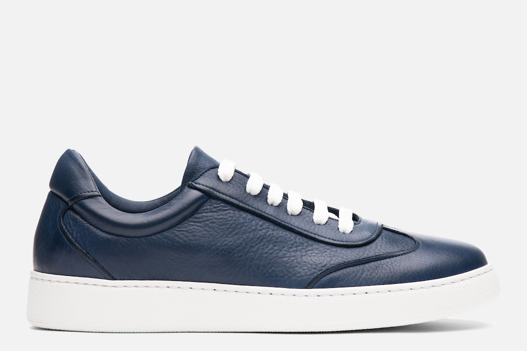 Gordon Rush Tristan Sneaker Shoe Navy Leather Side View