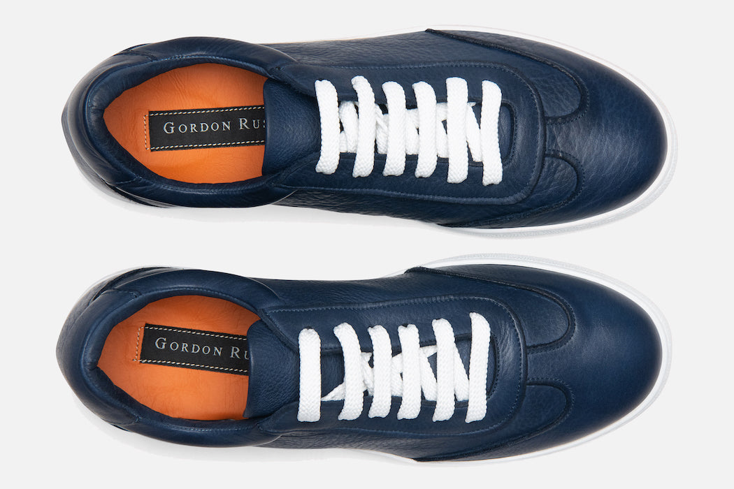 Gordon Rush Tristan Sneaker Shoe Navy Leather Top View