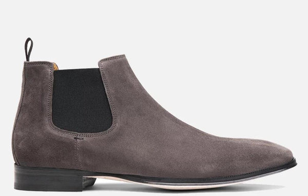 Gordon Rush Jordan Chelsea Boot Grey Suede Side View