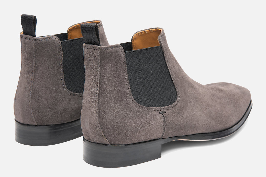 Gordon Rush Jordan Chelsea Boot Grey Suede Rear View Pair