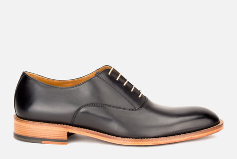 Oliver | Mens black leather oxford shoe - Gordon Rush