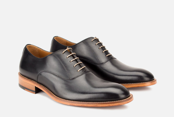 Gordon Rush Oliver Oxford Shoe Black Side View Pair
