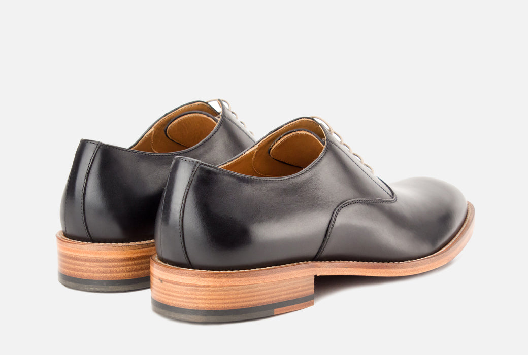 Gordon Rush Oliver Oxford Shoe Black Rear View Pair
