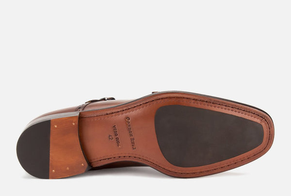 Gordon Rush Corbett Double Monkstrap Shoe Congnac Bottom View