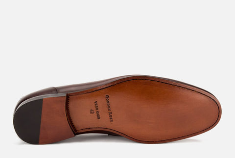 Brown leather loafer | Gordon Rush Coleman