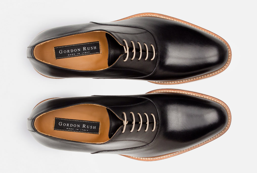 Luxury black leather Oxford shoes - Gordon Rush
