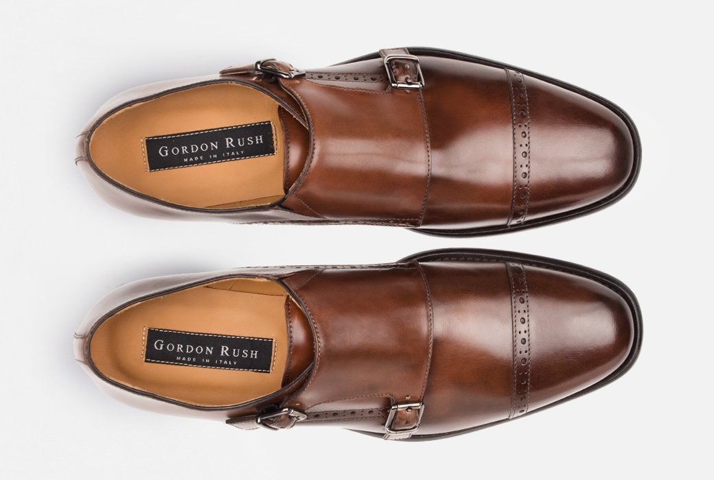 Gordon Rush Corbett Double Monkstrap Shoe Congnac Top View
