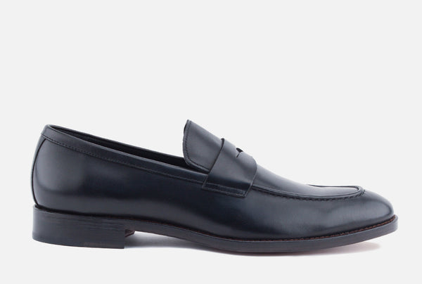 Gordon Rush Henderson Penny Loafer Shoe Black Side View