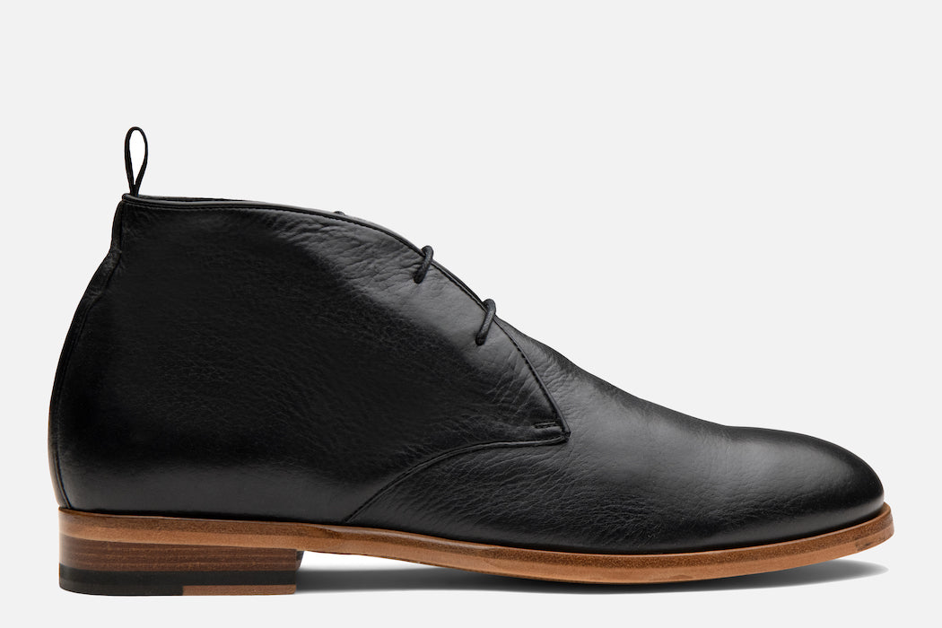 Gordon Rush Joel Chukka Boot in Black Side View