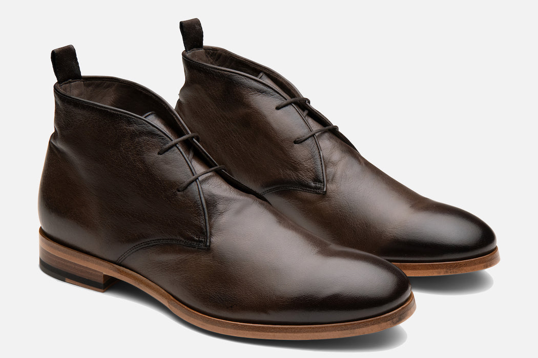 Gordon Rush Joel Chukka Boot in Chocolate Side View Pair