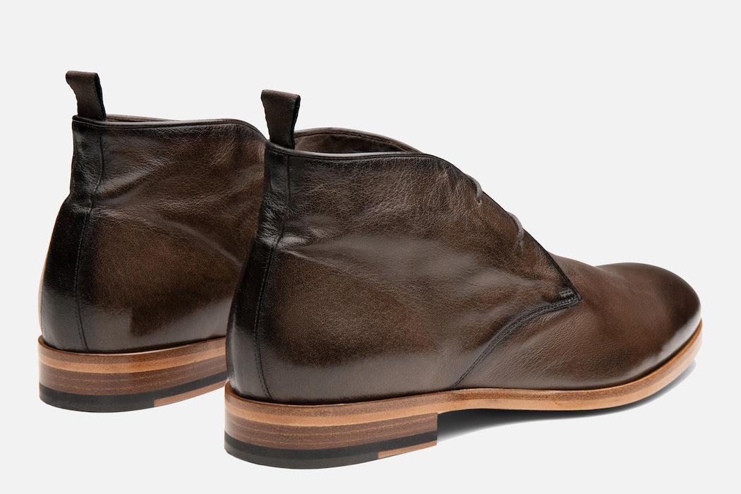 Gordon Rush Joel Chukka Boot in Chocolate Rear View Pair