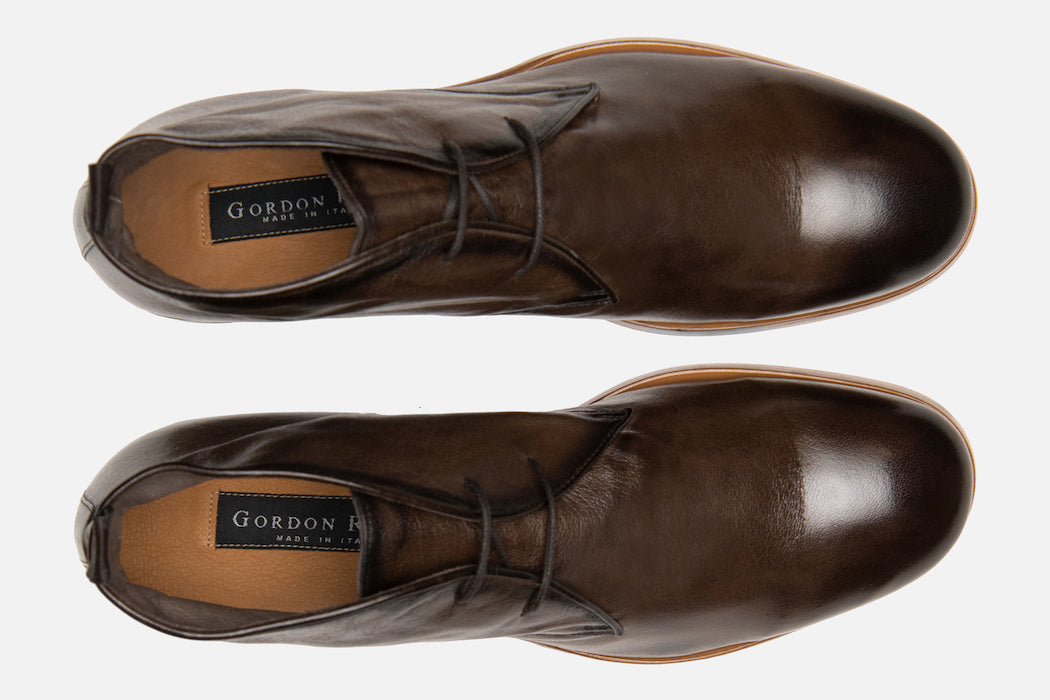 Gordon Rush Joel Chukka Boot in Chocolate Top View Pair