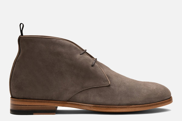 Gordon Rush Joel Chukka Boot in Taupe Suede Side View