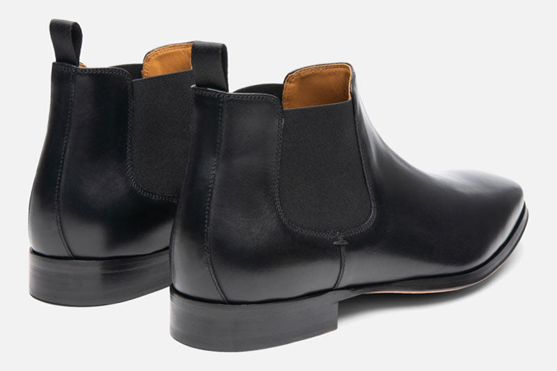 Gordon Rush Jordan Chelsea Boot Black Rear View Pair