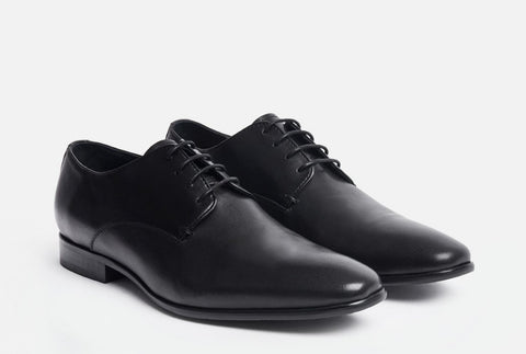 Gordon Rush/Mens fashion footwear/black leather shoe