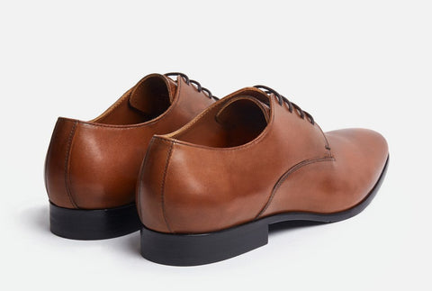 Back View of Gordon Rush Manning Plain Toe Lace-Up Derby