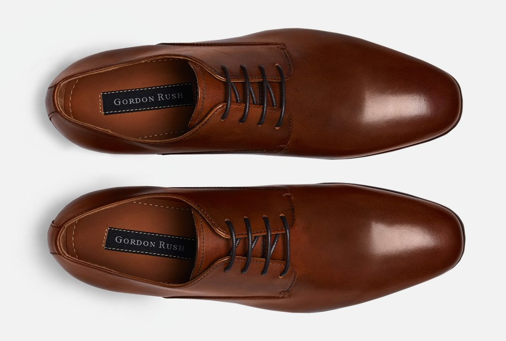 Gordon Rush Manning Derby Shoe Cognac Top View