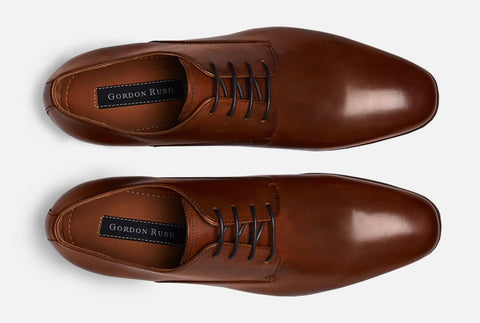 Aerial View of Gordon Rush Manning Plain Toe Lace-Up Derby
