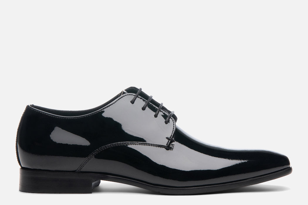 Gordon Rush Manning Derby Shoe Black Patent Side View