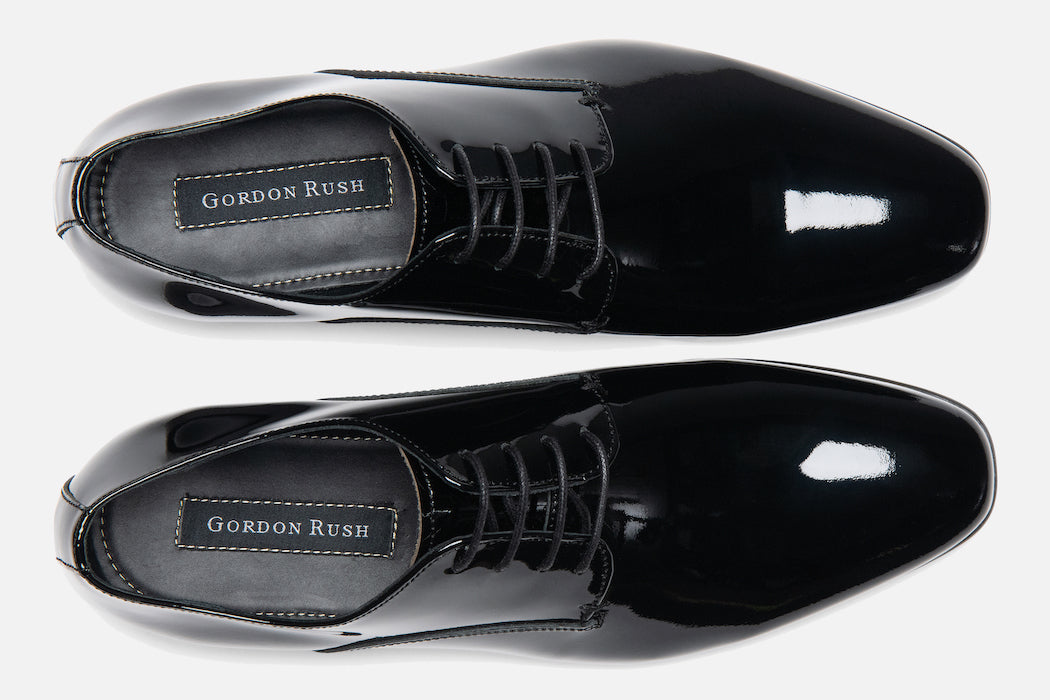 Gordon Rush Manning Derby Shoe Black Patent Top View