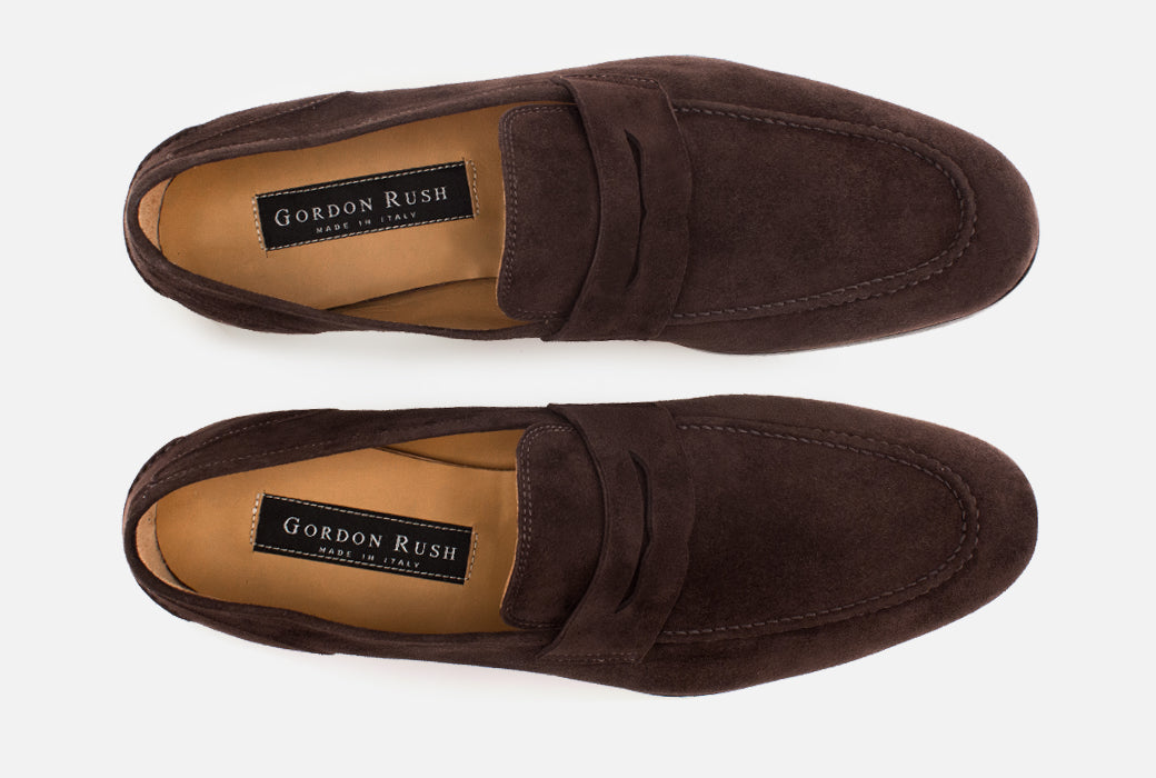 Gordon Rush Otis Penny Loafer Shoe Dark Brown Top View