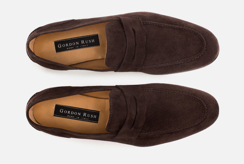 Suede Loafer | Brown Penny Loafer - Gordon Rush