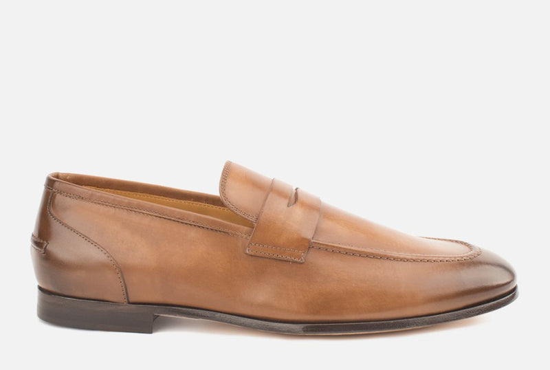 Otis | Mens Luxury Leather Loafers | Cognac Loafer - Gordon Rush