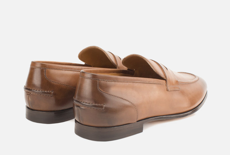 Luxury Light Brown Leather Loafer