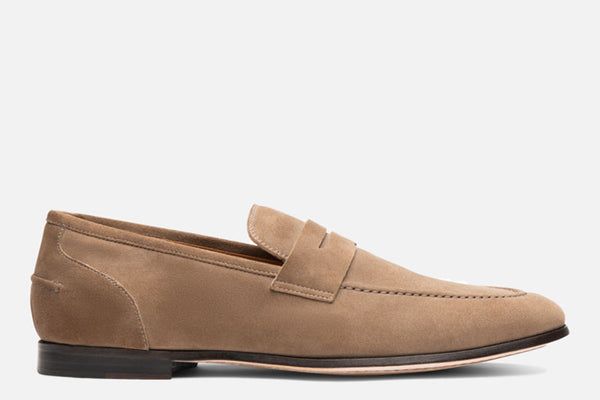 Gordon Rush Otis Penny Loafer Shoe Taupe Side View