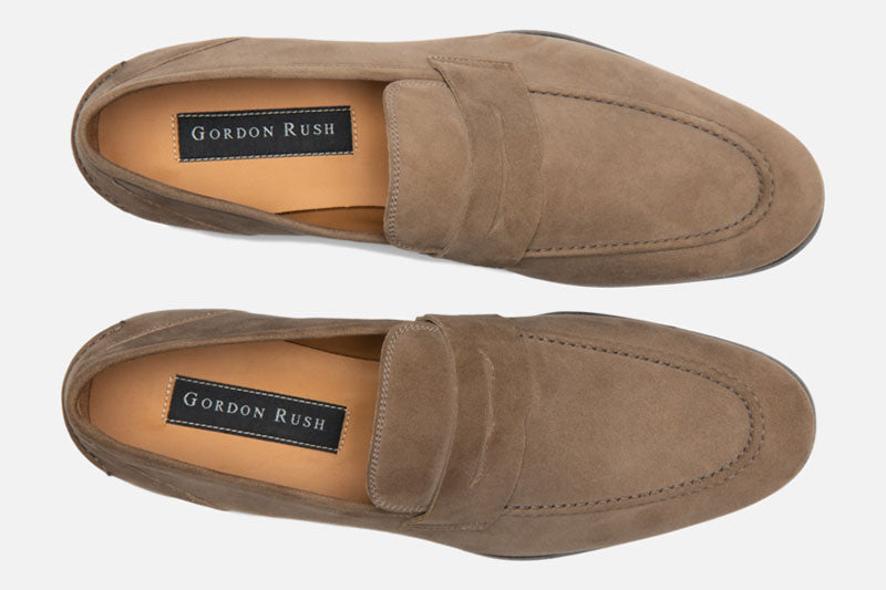 Gordon Rush Otis Penny Loafer Shoe Taupe Top View