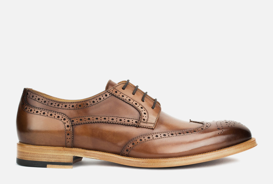 Percy Cognac Leather Wingtip