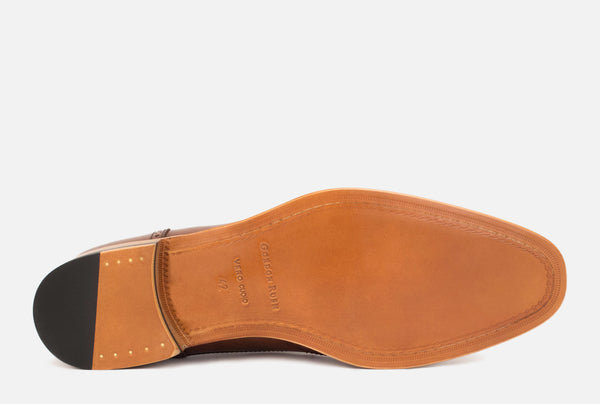 Gordon Rush Percy Wingtip Shoe Cognac Bottom View