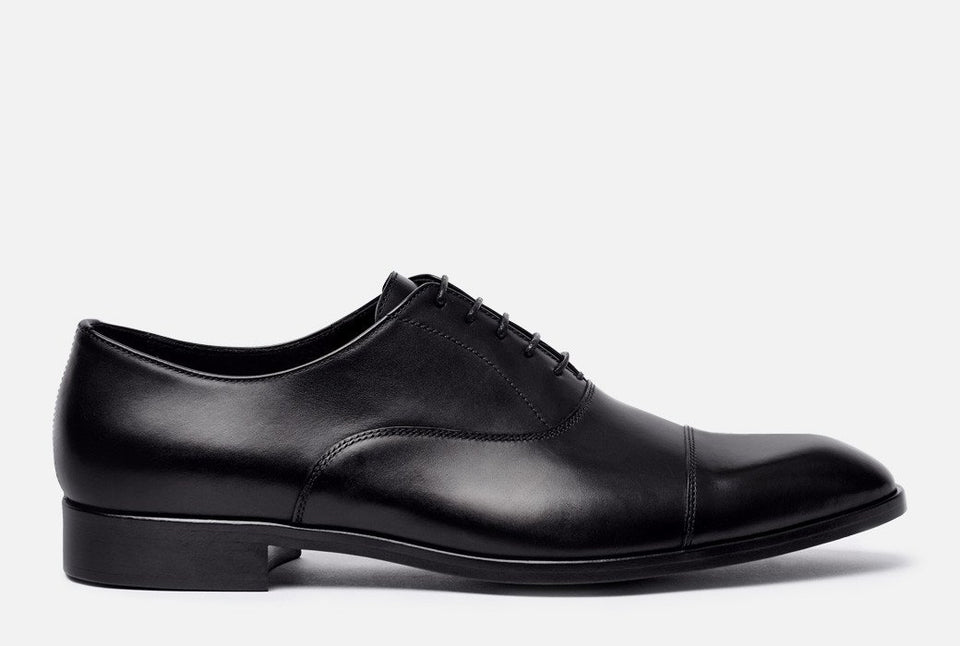 Evans Black Leather Oxford