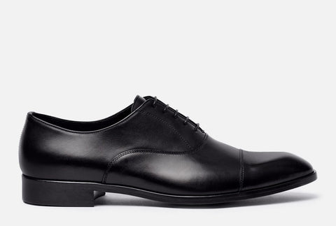 Gordon Rush Evans Cap Toe Oxford in Black