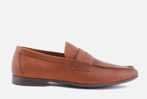 Phillips - Penny Loafer . Cognac