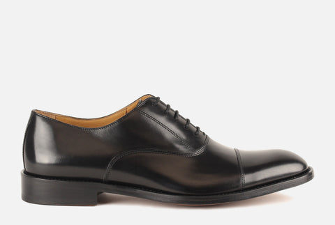 Gordon Rush Men's Shoes - Nathan Cap Toe Oxford in Black
