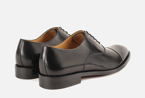 Gordon Rush/Manning/Lace up/black leather oxford
