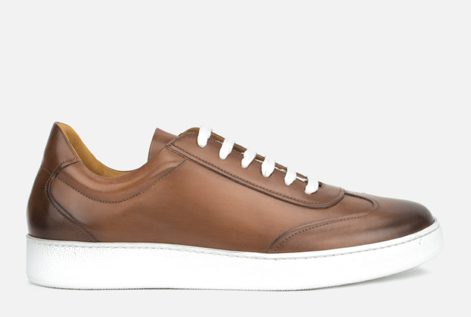 Tristan Cognac Leather Sneaker