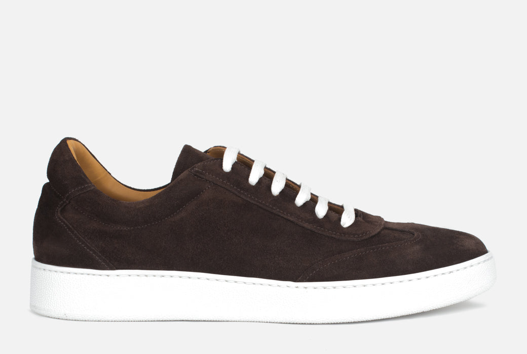 Gordon Rush Tristan Sneaker Shoe Dark Brown Suede Side View