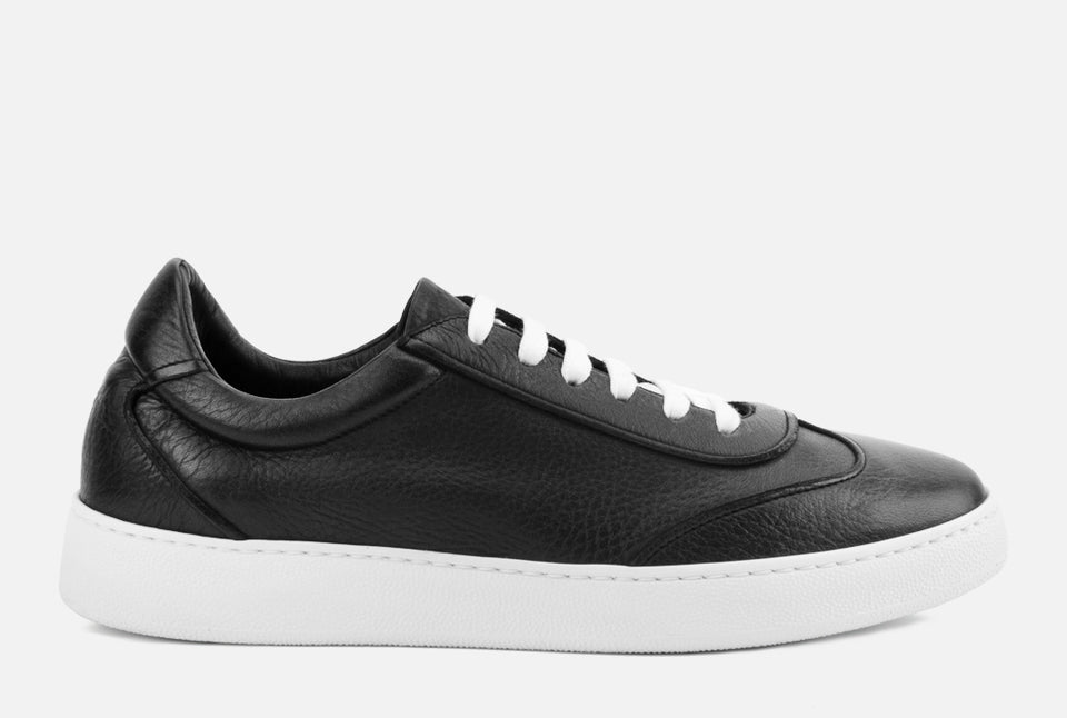 Tristan Black Leather Sneaker