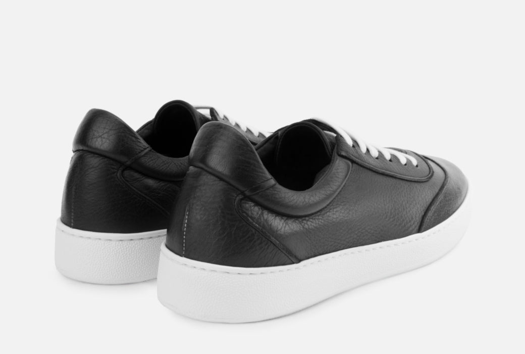Gordon Rush Tristan Sneaker Shoe Black Leather Rear View Pair