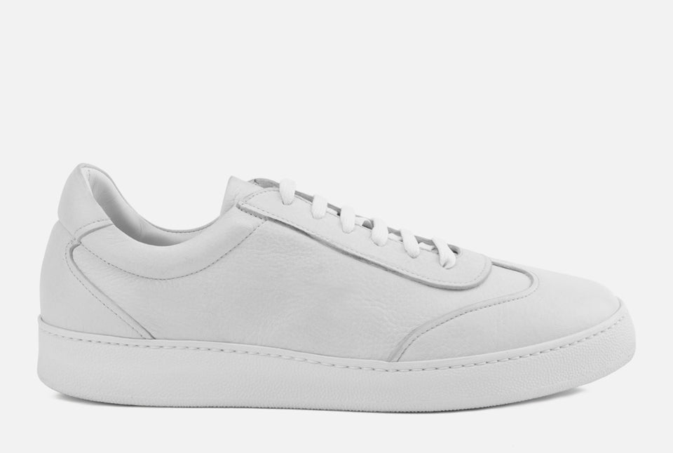 Tristan White Leather Sneaker