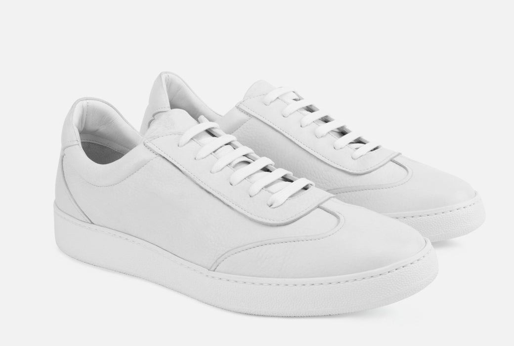Gordon Rush Tristan Sneaker Shoe White Leather Side View Pair