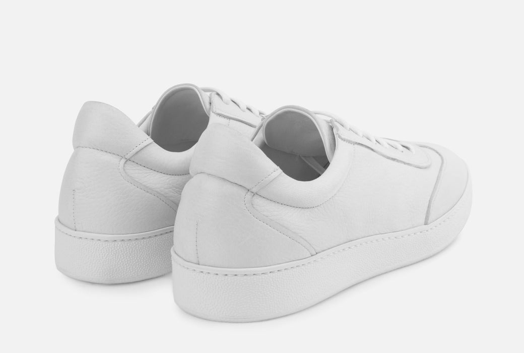 Gordon Rush Tristan Sneaker Shoe White Leather Rear View Pair