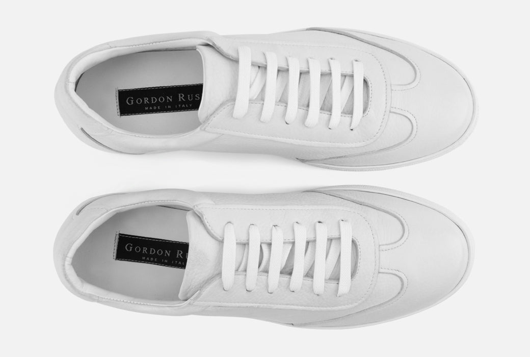 Gordon Rush Tristan Sneaker Shoe White Leather Top View