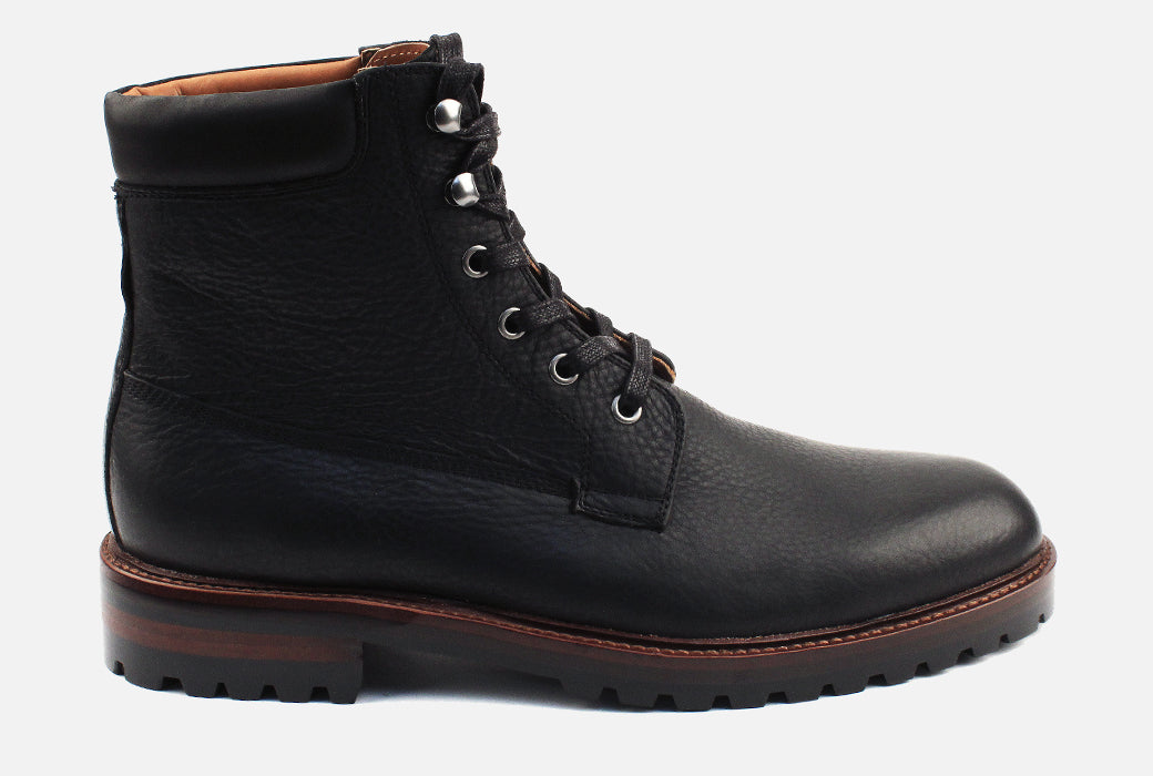 Gordon Rush Virgil Lace Up Boot Black Side View