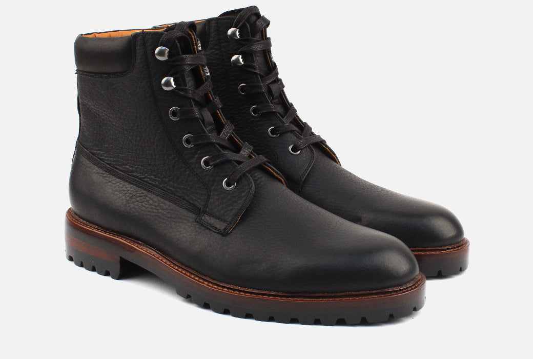 Gordon Rush Virgil Lace Up Boot Black Side View Pair