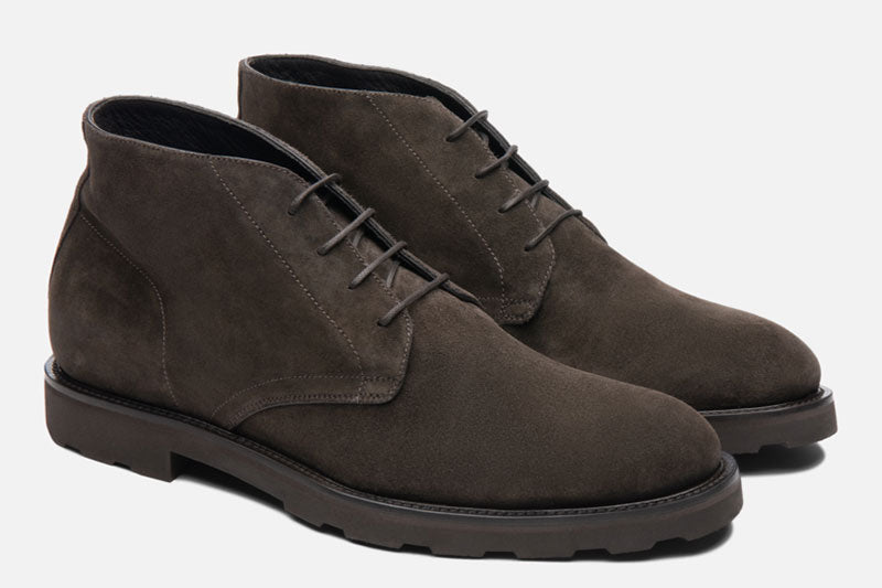 Gordon Rush Wesley Chukka Boot Dark Taupe Side View Pair