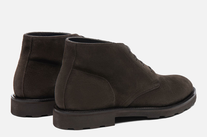 Gordon Rush Wesley Chukka Boot Dark Taupe Rear View Pair